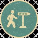 Walking To Schol Icon