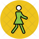 Walking Woman Female Icon