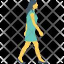 Walking Running Female Icon