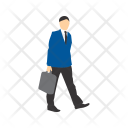 Walking With Briefcase Icon