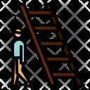 Walking Under A Ladder Belief Badluck Icon