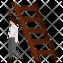 Walking Under A Ladder Belief Badluck Ladder Unlucky Superstition Icon