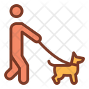 Walking With Dog Man Walking With Dog Dog Icon