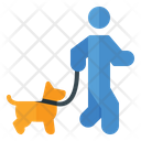 Walking With Dog Walking Training Walking Icon