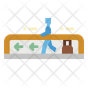 Walkway Passenger Airport Icon