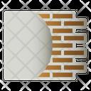 Wall Plaster Brick Icon