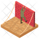 Wall Climbing Soldier Training Military Training Icon