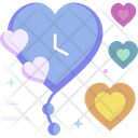 Wall Clock Valentine Time Date Time Icon