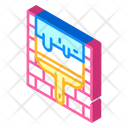 Wall Putty Isometric Icon