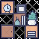 Shelves Unit Interior Icon