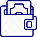 Dollar Wallet Buke Icon