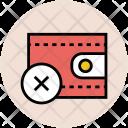 Wallet Purse Cross Icon