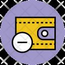 Wallet Purse Remove Icon