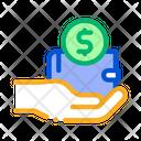 Money Wallet Hand Icon