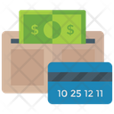 Wallet Money Cash In Purse Digital Money Icon