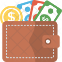 Wallet With Money Icon