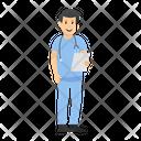 Ward Boy Male Nurse Medical Assistant Icon