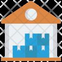Warehouse Store Boxes Icon