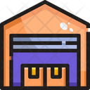 Warehouse Coldstorage Shipment Icon
