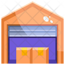 Warehouse Coldstorage Shipment Icon