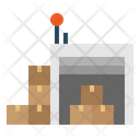 Warehouse Industry Boxes Icon