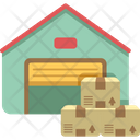 Warehouse Godown Storage House Icon