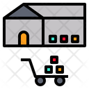 Stock Warehouse Stockpile Icon