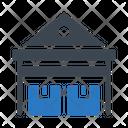 Warehouse Factory Boxes Icon