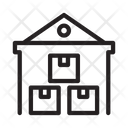 Warehouse Parcel Delivery Icon