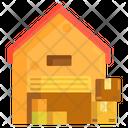 Warehouse Godown Storage House Icon