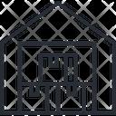 Warehouse Godown Storage Icon