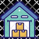 Warehouse Boxes Storage Icon
