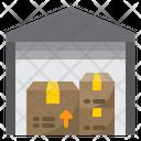 Warehouse Distribution Shipping Icon