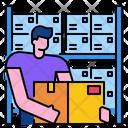 Stock Warehouse Storage Icon