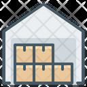 Warehouse Boxes Hangar Icon