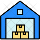 Warehouse Crates Storage Icon