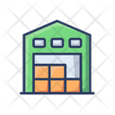 Warehouse Storage House Delivery Boxs Icon