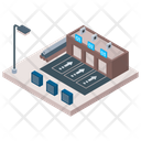 Warehouse Building Commercial Building Manufacturing Plant Icon