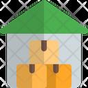 Warehouse Garage Boxes Icon