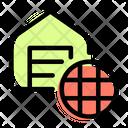 Warehouse Globe Icon