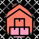 Warehouse House Boxes Icon