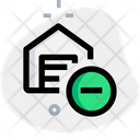 Warehouse Minus Remove Package Remove House Icon