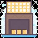 Warehouse Parcel Storage Icon