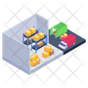 Depot Storehouse Warehouse Parcels Icon