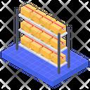 Warehouse Product Shelf Icon
