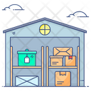 Warehouse Racks Parcel Racks Inventory Icon