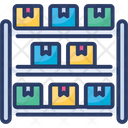 Warehouse Shelves Rack Assortment Icon