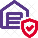 Warehouse Shield Package Shield Package Security Icon