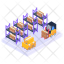 Warehouse Shelves Parcel Racks Packages Rack Icon