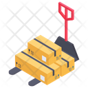 Warehouse Trolley Transportation Trolley Manual Forklift Icon